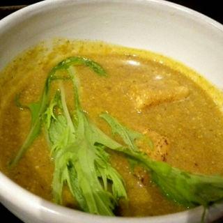 豆乳カレーのつけ麺(饂の神 (三代目辨慶))