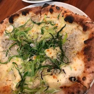 しらすと九条ネギのピザ サラダ ドリンク付き(ガーデンハウス レストラン )