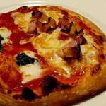 マルゲリータとベーコンとポテトピザ