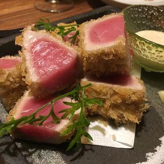 名物 マグロ藁焼き(博多ほたる 西中洲本店)