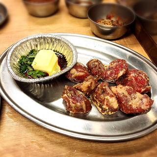 角切りヒレ肉と特製ガーリックバター(大阪焼肉・ホルモンふたご 中目黒本館)
