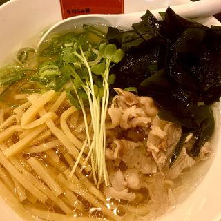 三陸わかめの塩らぁ麺(牛骨らぁ麺マタドールANNEX)