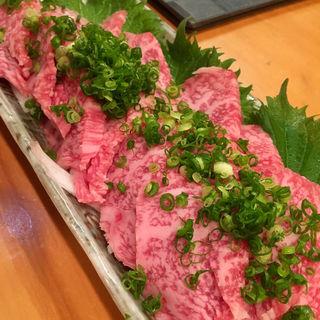 宮崎牛の刺身(ふく菜 )