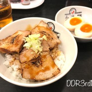 炙り焼豚ご飯セット(喜多方ラーメン坂内 大塚店)