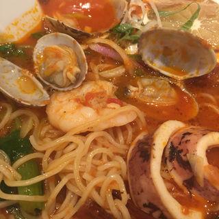 香ばし鰹のペスカトーレ(太陽のトマト麺Next サンシャインシティ (タイヨウノトマトメンネクスト))