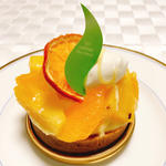 パイナップルとオレンジのタルト