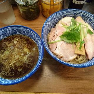 清湯つけそば(12周年限定麺)(京都千丸しゃかりき )
