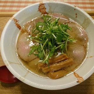 白・鶏魚介醤油(チャーシュー増し)(麺屋シマフクロウ )