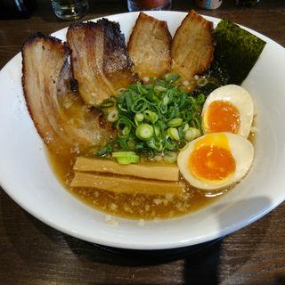 中華そば・魚介(肉増し・味玉入り)(熱豚)