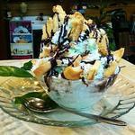 チョコミントパイ氷