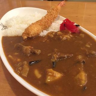ビーフカレー 茄子とチーズとエビフライ(イートイット 羽倉崎店 (Eat it))