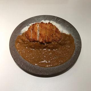 ロースカツカレー(辛口)大盛り(そまりあんカレー)