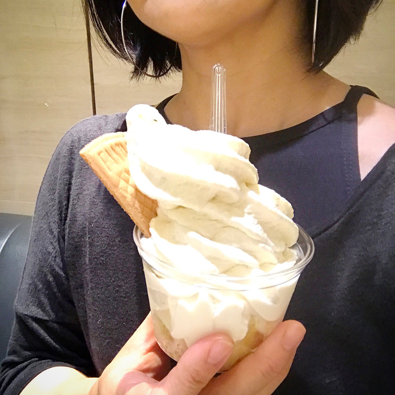 バナナソフトクリーム