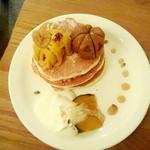 かぼちゃとくりとお芋のハロウィンパンケーキ