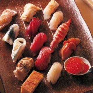おまかせにぎり寿司のコース 15貫(鮨處やまだ)