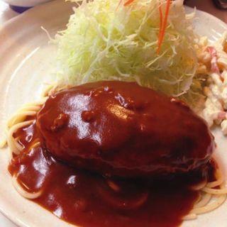ハンバーグ(ライス・味噌汁付き) (キッチンアオキ )