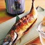 串刺し鯖の浜焼き