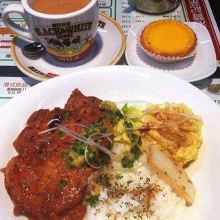 蔥豬扒飯(ジンジャーソース豚ロース飯)(贊記茶餐廳 (チャンキチャチャンテン))