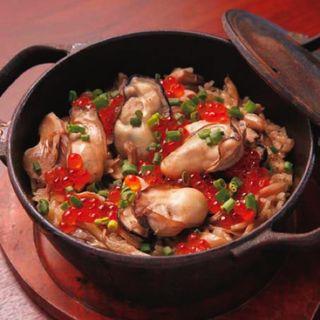 鉄鍋で炊き上げる牡蠣の炊込みごはん(2人前)(ザ・カーブ・ド・オイスター (THE CAVE DE OYSTER))