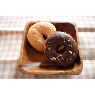 プレーンとチョコレート(ニコット&マム (Doughnut Cafe nicotto & mam))