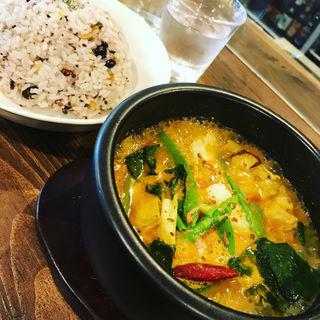 ランチセット 春野菜のスープカレー(Spice&Sweets KAJU)