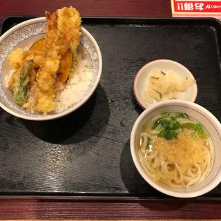 【おてがるランチ】ランチ天丼(半うどん)(夢庵 西国分寺店  (ゆめあん))