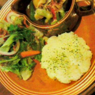 こんがりチーズと茄子の焼きカレーライス (cafe Cherish (カフェ チェリッシュ))