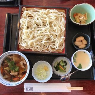 豚肉つけ汁うどん定食(藍屋 東大和店 )