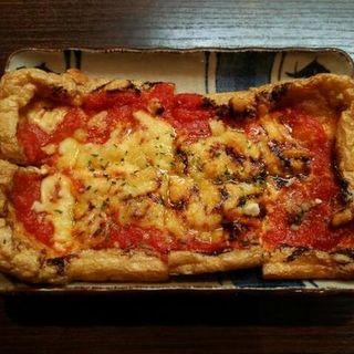 薄揚げのピザ(市左衛門 )