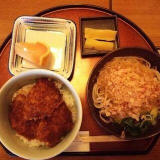 ミニソースカツ丼とミニおろし蕎麦のセット(福そば (フクソバ))