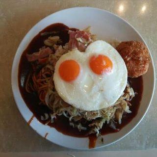 ベーコンソテー(目玉焼き)(ナポリ )