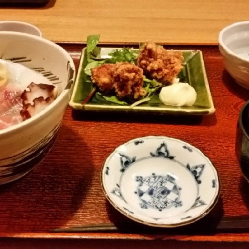 ちらし寿司の定食セット