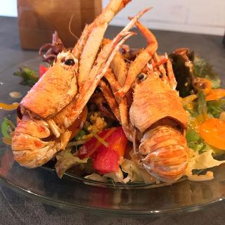 ホタルイカとクモ海老のサラダ(ペタンク)