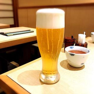 生ビール(サッポロ)(手打祐天寺 卯月 (てうちゆうてんじ・うづき))