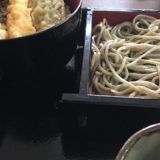 花ランチ(天丼そば小鉢お新香)(へぎそば処 うち田 )