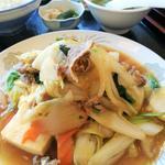 牛肉と豆腐のすきやき風炒め定食