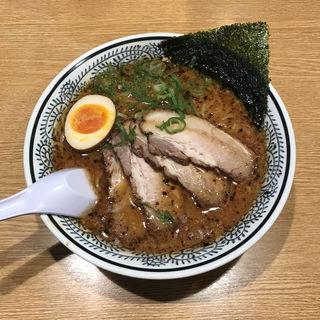 熟成醤油とんこつチャーシュー(黒)麺大盛り(丸源ラーメン 西府中店 )
