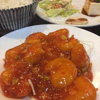 エビチリ定食(京華)