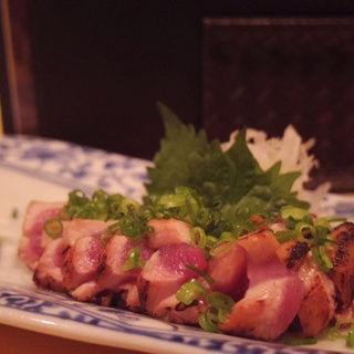 黒岩土鶏たたき(焼酎ダイニング だけん )
