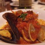魚介の旨みたっぷりアンコーナ風スパゲッティ