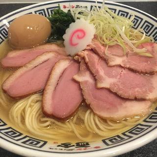 特製芳醇鶏香塩そば(ラーメン而今 中之島フェスティバルプラザ店)