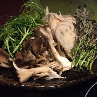 野菜盛り合わせ(畑のしゃぶしゃぶ屋さん)