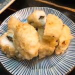 ハモの天ぷら梅肉挟み