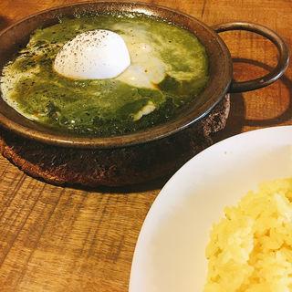 チーズ&エッグカレー(ほうれん草)(ヨゴロウ (YOGORO))