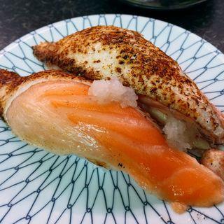 炙りサーモン(市場寿し (いちばずし))
