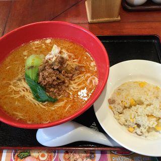 担々麺と半チャーハンセット(中国麺家 大崎ニューシティ店 )