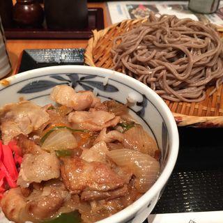 ざるそば&豚生姜焼丼(魚菜 まほらま (まほらま))