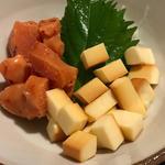 チーズと明太子