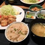 鶏の梅塩唐揚げ定食