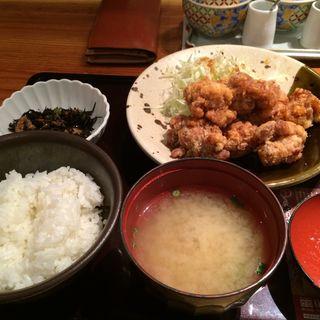 鶏の唐揚げ明太風味定食(やまや 丸の内店 )